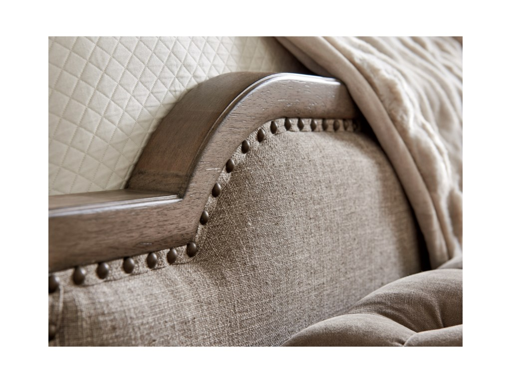 Tommy Bahama Home Cypress PointStone Harbour Upholstered Bed 5/0 Queen