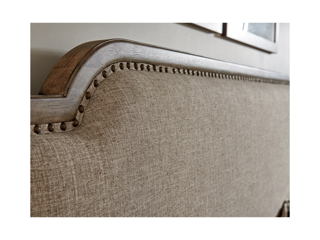 Tommy Bahama Home Cypress PointStone Harbour Upholstered Headboard 6/0 Cali