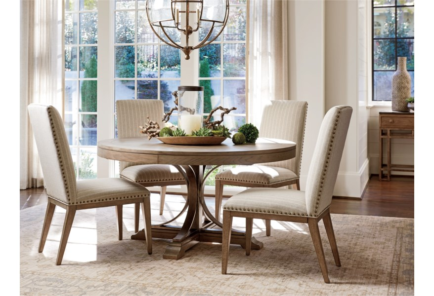 Tommy Bahama Home Cypress Point Devereaux Upholstered Side ...