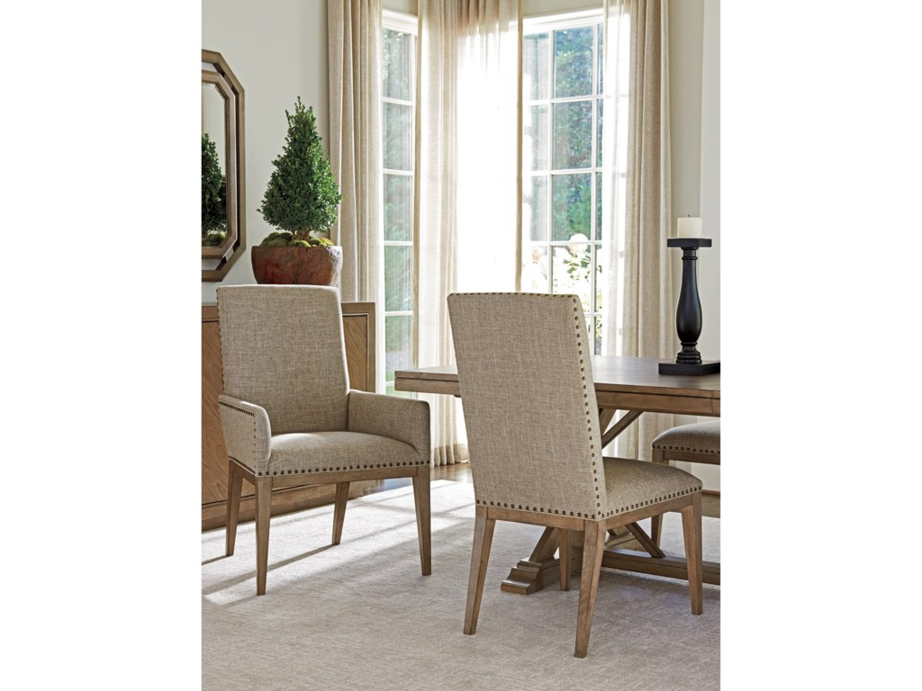 Tommy Bahama Home Cypress PointDevereaux Upholstered Arm Chair