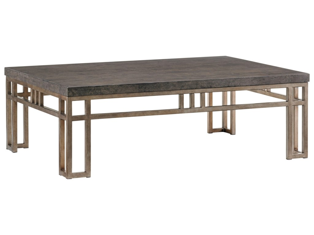 Tommy Bahama Home Cypress PointMontera Travertine Cocktail Table