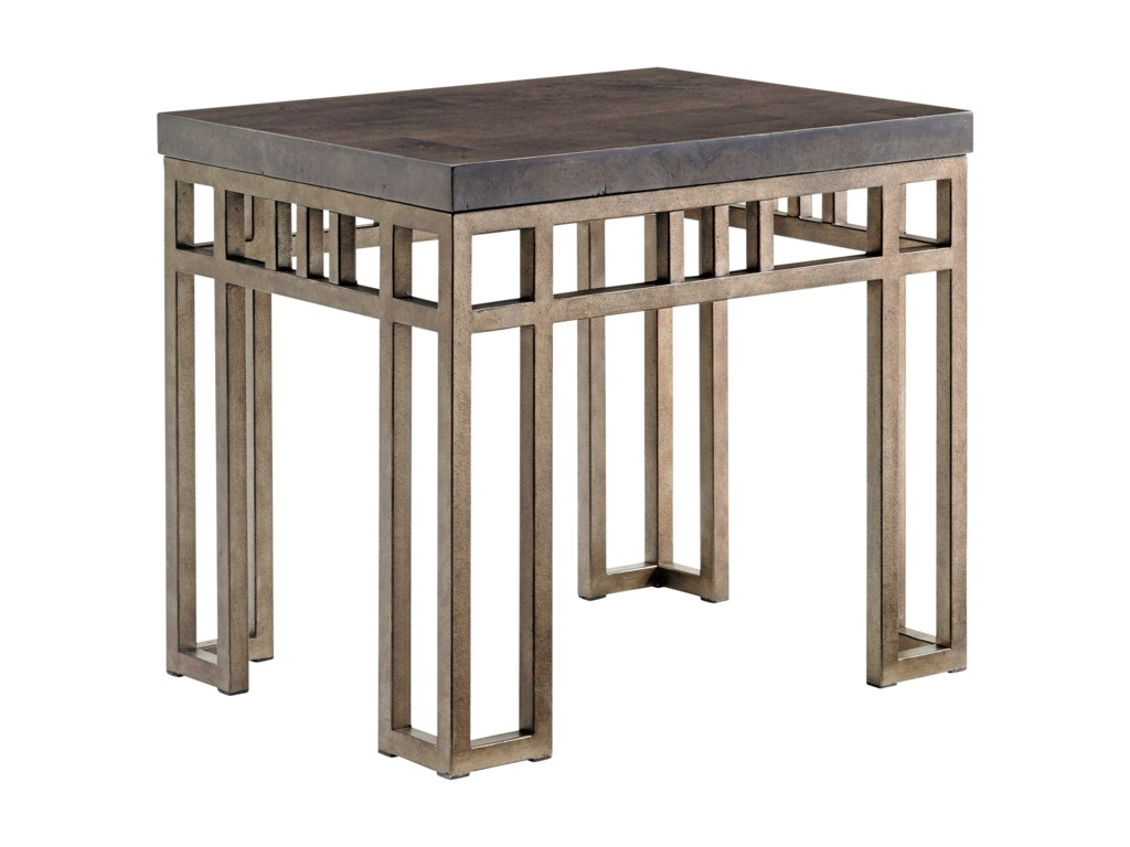 Tommy Bahama Home Cypress PointMontera Travertine End Table