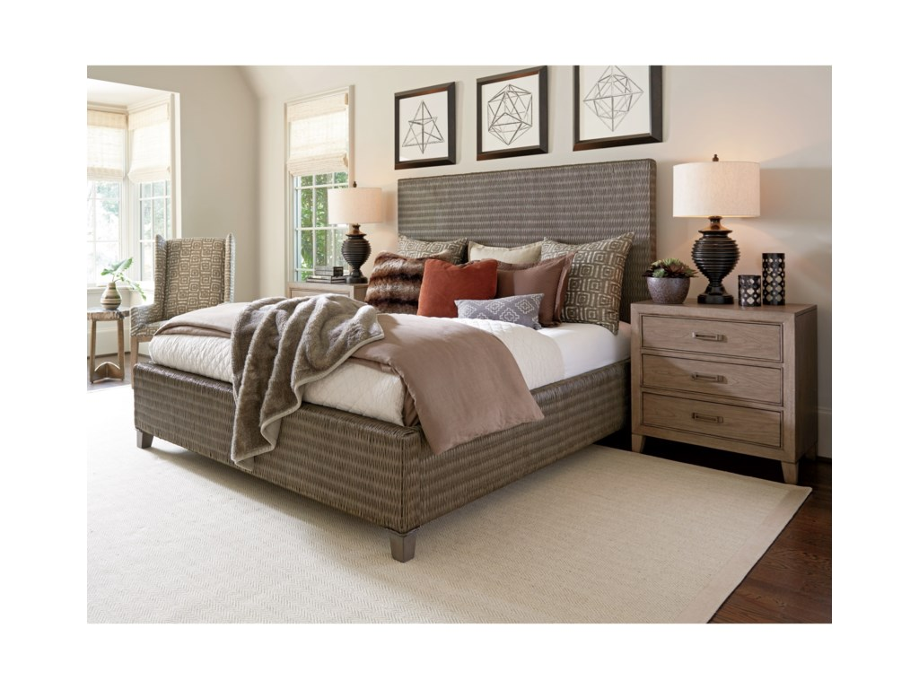 Tommy Bahama Home Cypress PointDriftwood Isle Woven Platform Bed 5/0 Queen