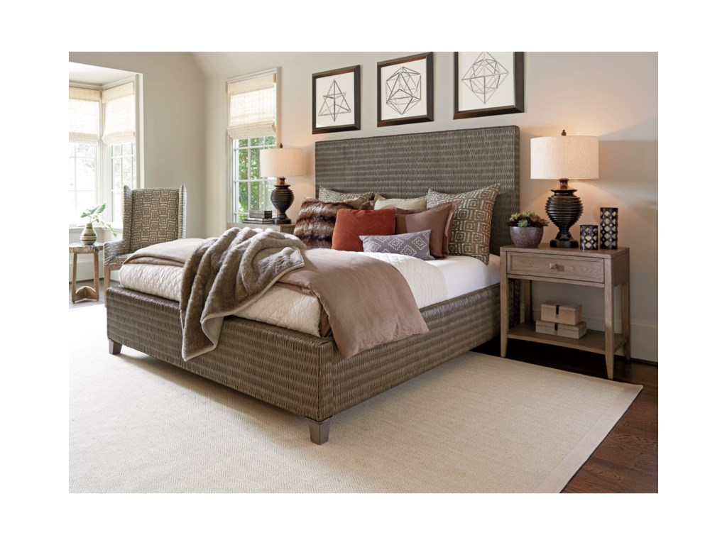 Tommy Bahama Home Cypress PointDriftwood Isle Woven Platform Bed 6/0 Califo