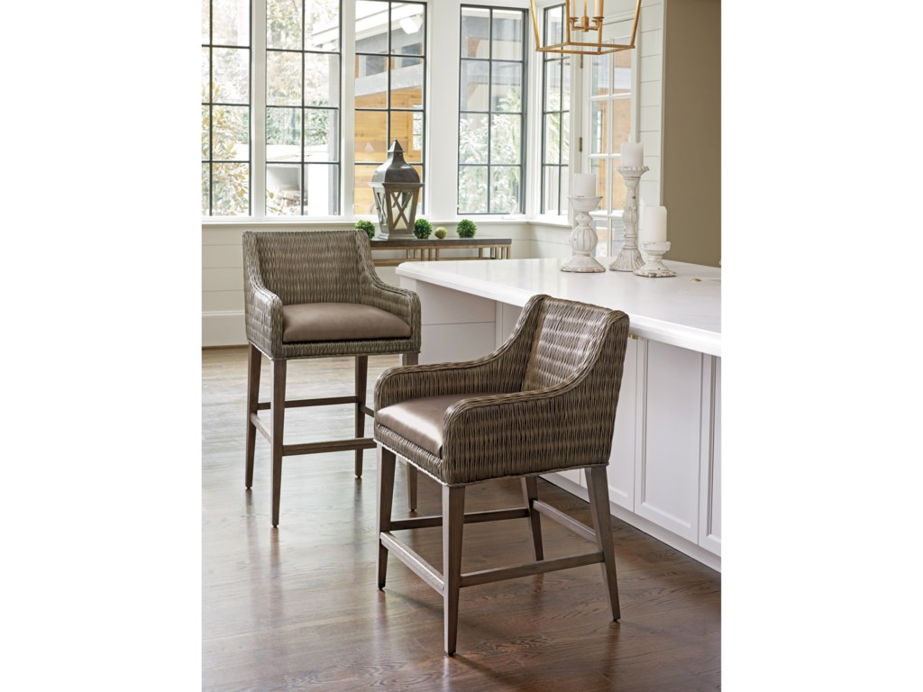 Tommy Bahama Home Cypress PointTurner Woven Counter Stool
