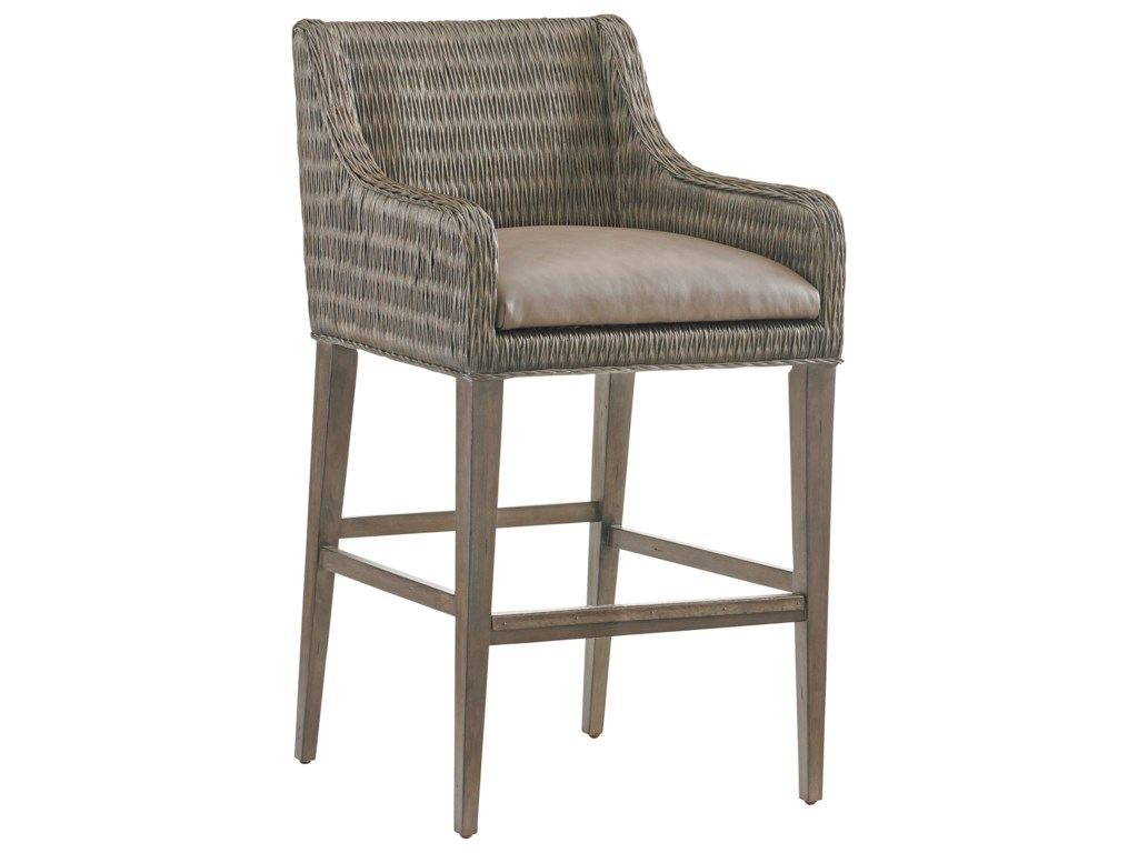 Tommy Bahama Home Cypress PointTurner Woven Bar Stool
