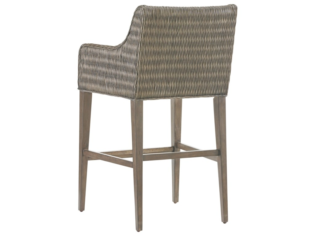 Tommy Bahama Home Cypress PointTurner Woven Bar Stool Custom
