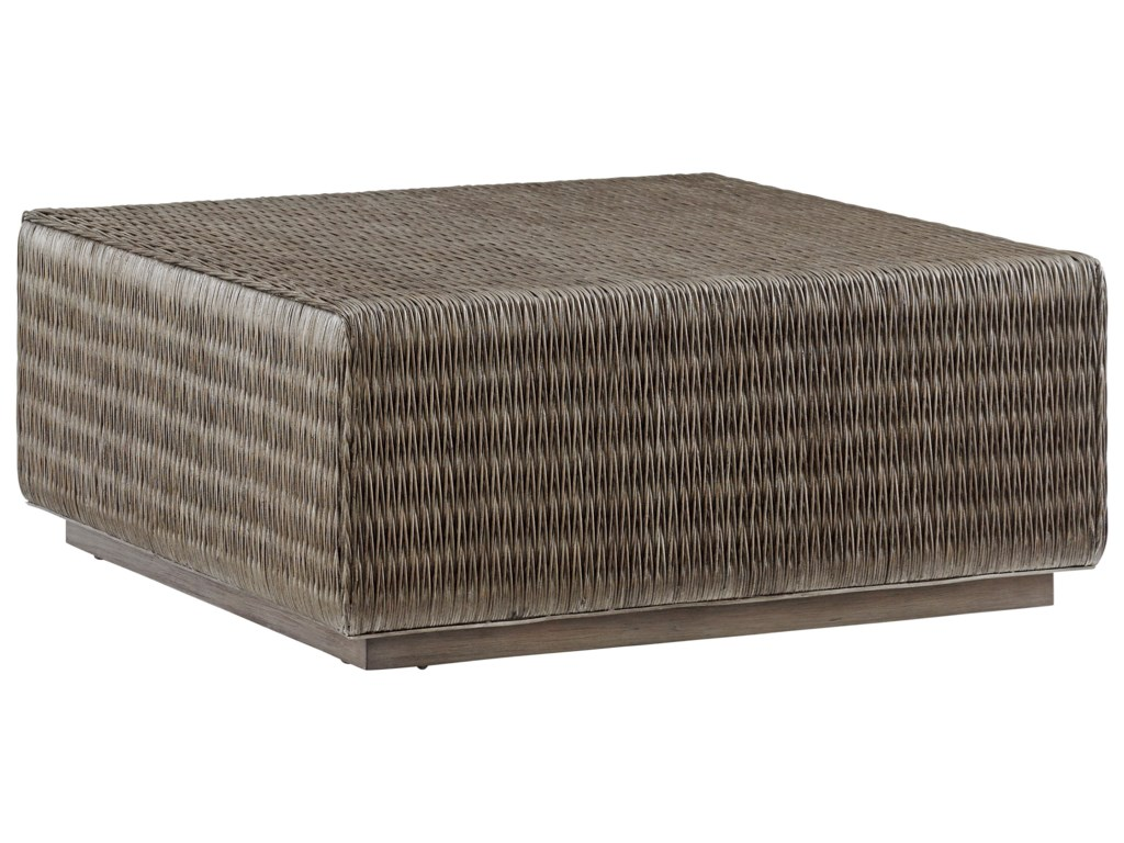 Tommy Bahama Home Cypress PointSeawatch Woven Cocktail Table