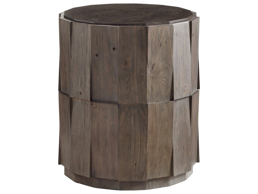Tommy Bahama Home Cypress PointEverett Round Travertine End Table