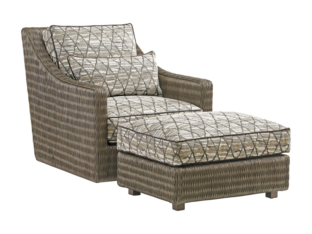 Tommy Bahama Home Cypress PointHayes Ottoman