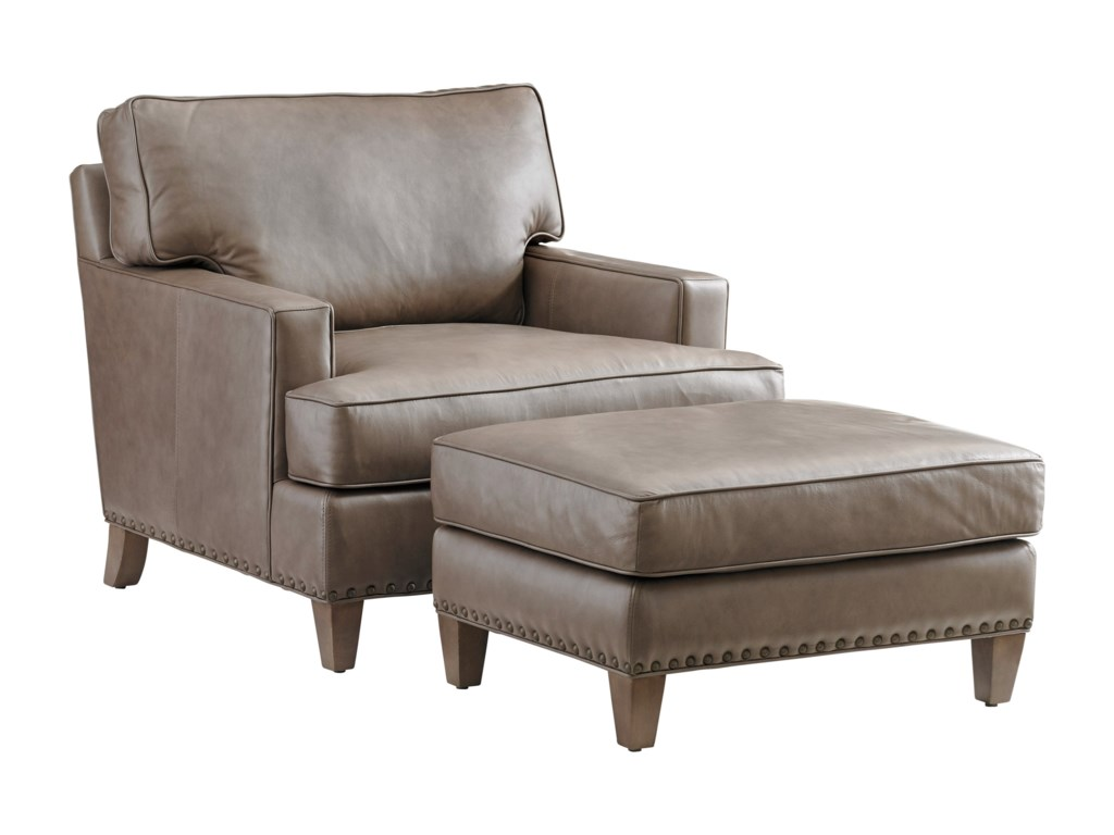 Tommy Bahama Home Cypress PointHughes Leather Chair