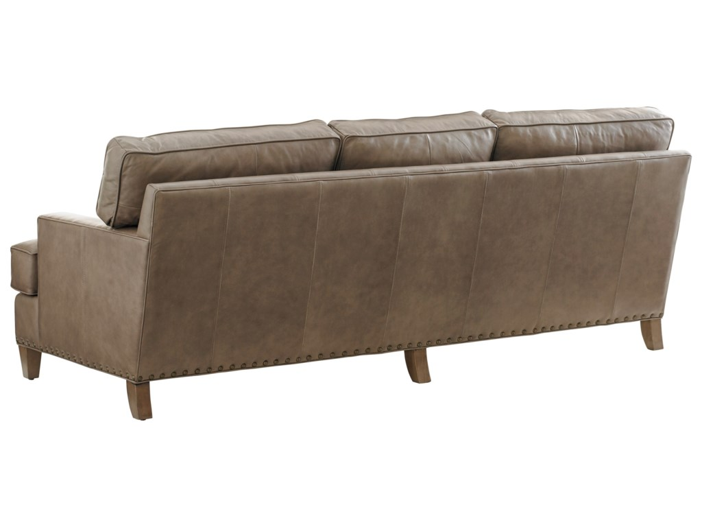 Tommy Bahama Home Cypress PointHughes Leather Sofa