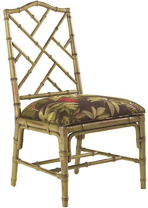 Tommy Bahama Home Island Estate <b>Customizable</b> Ceylon Side Chair with Rattan Frame