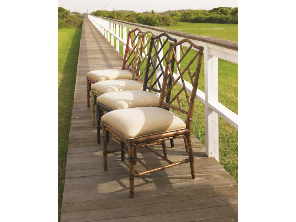 Ceylon Side Chair Available in Plantation, Noche, Cilantro, and Sangria Finishes