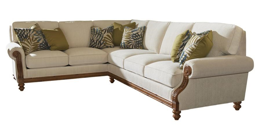 West Shore LAF Corner Sectional Sofa with Tropical Accents