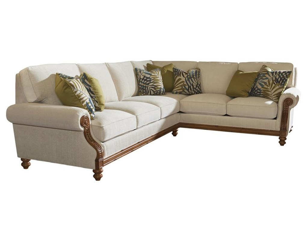 Tommy Bahama Home Island EstateWest Shore Sectional Sofa RAF Corner