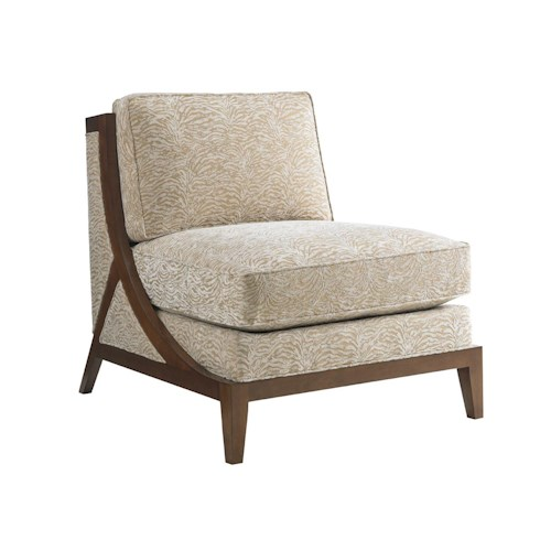 Tommy Bahama Home Island Fusion Tasman Contemporary Armless Chair