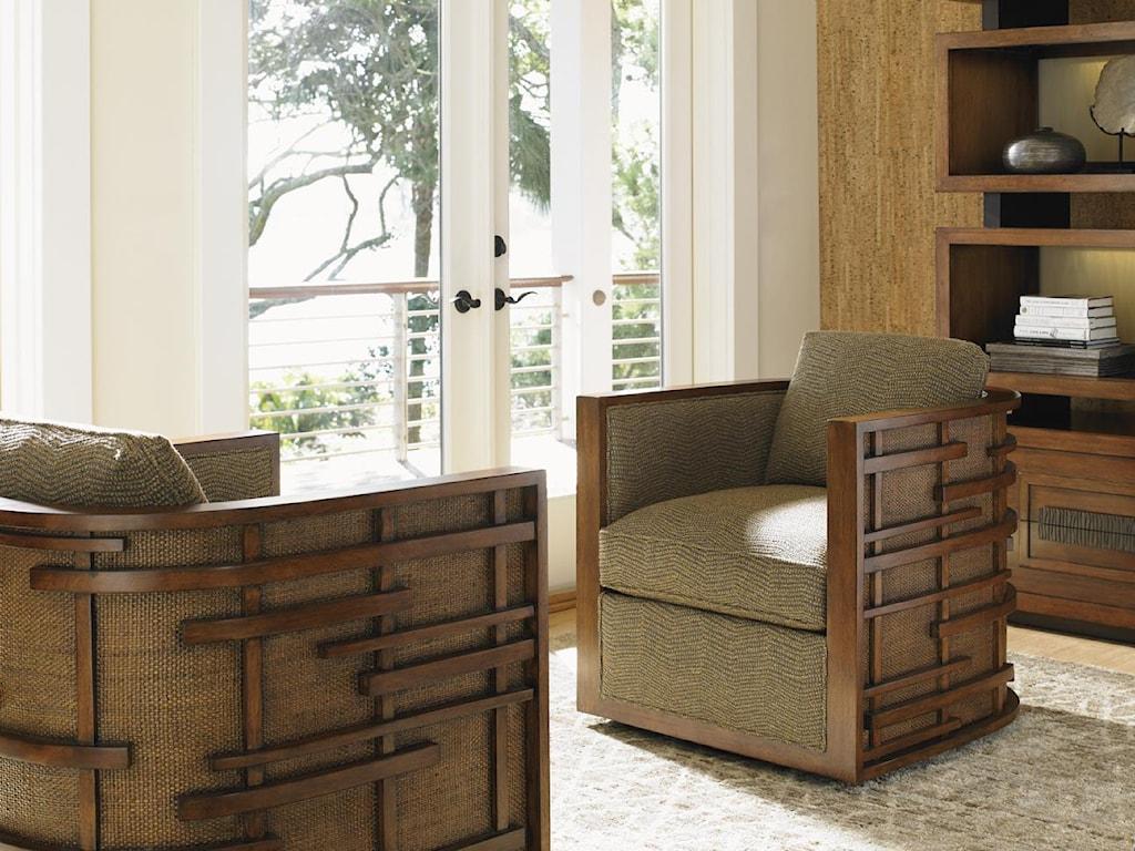 Tommy Bahama Home Island FusionSemerang Swivel Chair