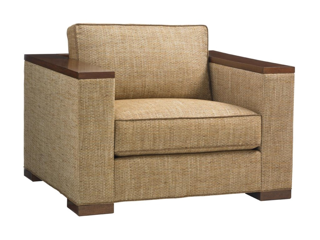 Tommy Bahama Home Island FusionFuji Chair and Ottoman Set