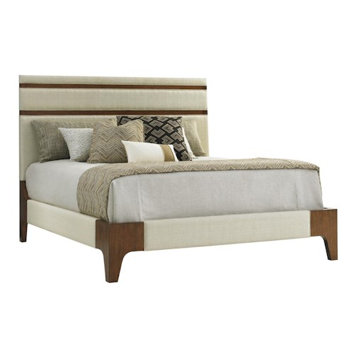 Tommy Bahama Home Island Fusion Mandarin King Upholstered Panel Bed