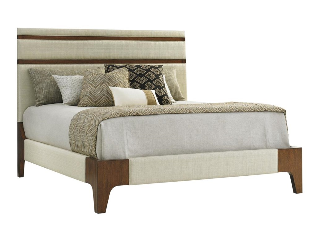 Tommy Bahama Home Island FusionMandarin Upholstered Panel Bed King