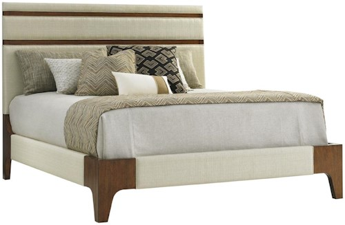 Tommy Bahama Home Island Fusion Mandarin Queen Upholstered Panel Bed