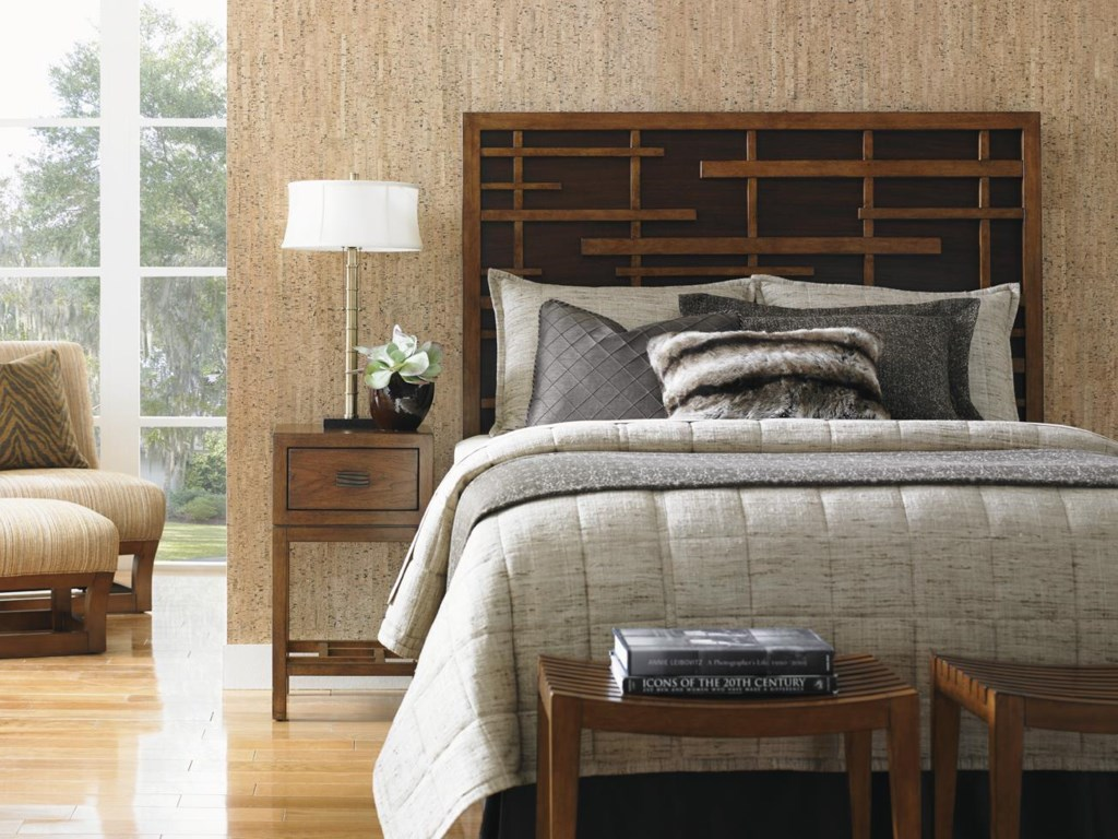 Tommy Bahama Home Island FusionShanghai Panel Bed 5/0 Queen