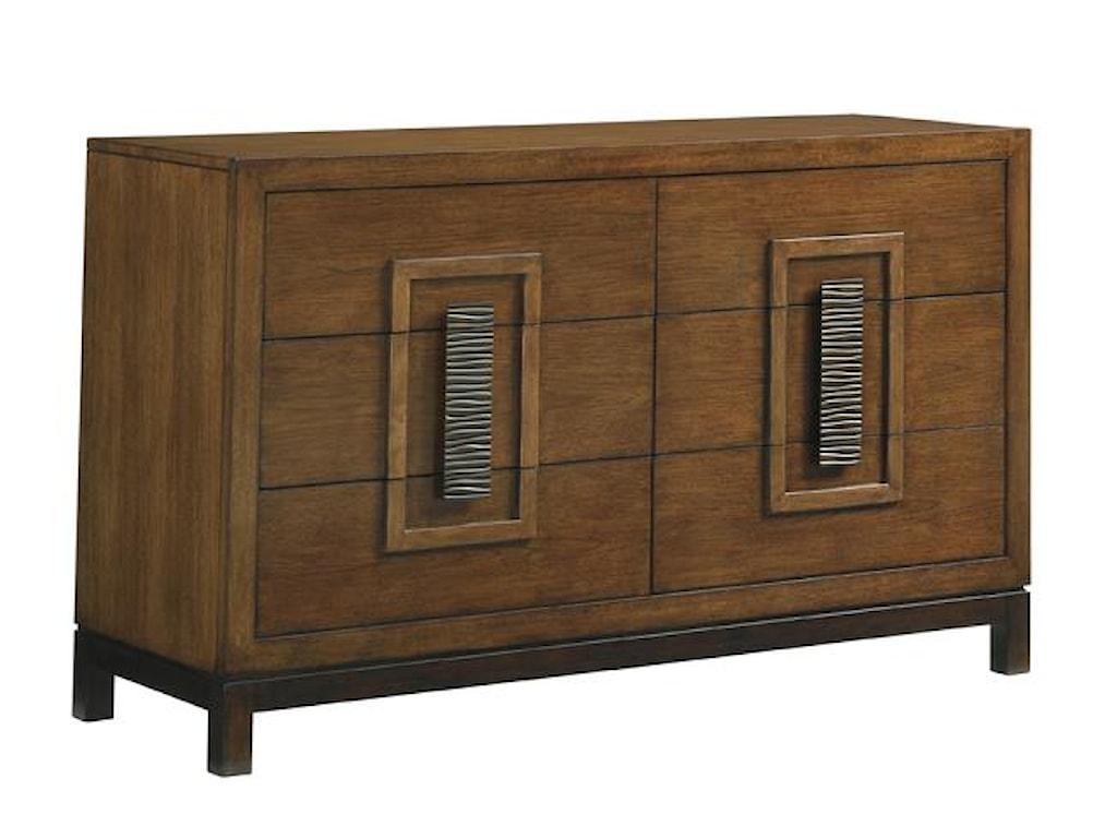 Tommy Bahama Home Island FusionTahara Dresser and Mirror Set