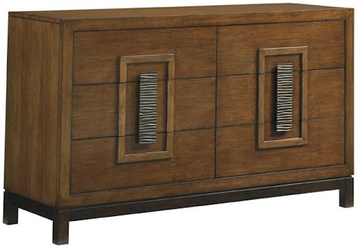 Tommy Bahama Home Island Fusion Tahara Asian-Inspired Dresser with Six Drawers