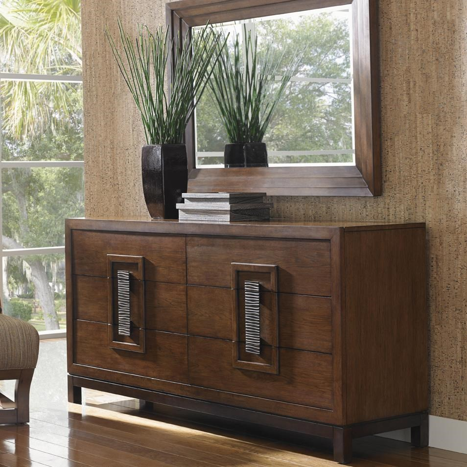 Asian themed furniture Chinoiserie Tommy Bahama Home Island Fusion Heron Island Asianinspired Dresser And Luzon Landscape Mirror Set Wayside Furniture Tommy Bahama Home Island Fusion Heron Island Asianinspired Dresser