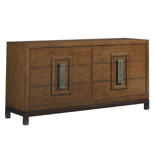 Tommy Bahama Home Island Fusion Heron Island Asian-Inspired Dresser with Six Drawers