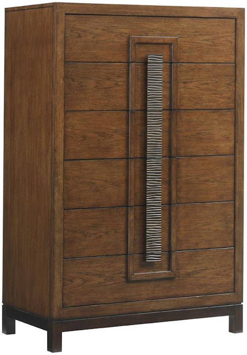 Tommy Bahama Home Island Fusion Java Asian-Inspired Drawer Chest with Six Drawers