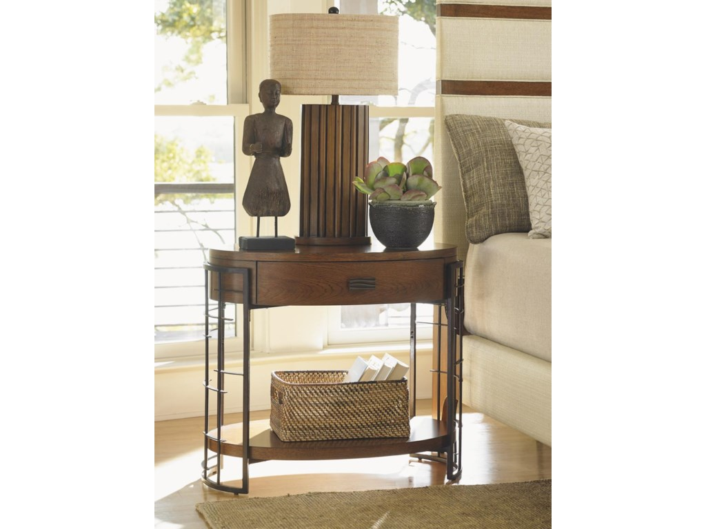 Tommy Bahama Home Island FusionSendai High/Low Nightstand