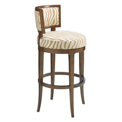 Tommy Bahama Home Island Fusion Macau Customizable Swivel Bar Stool