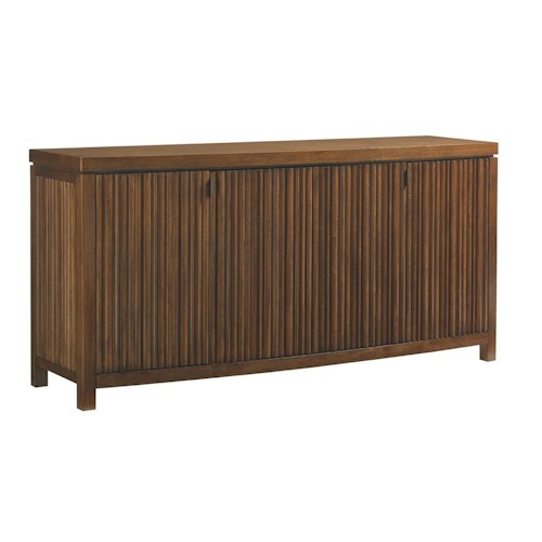 Tommy Bahama Home Island Fusion Sapporo Buffet with Felt-Lined Silverware Drawers
