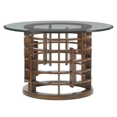 Tommy Bahama Home Island Fusion Meridien Dining Table with 60