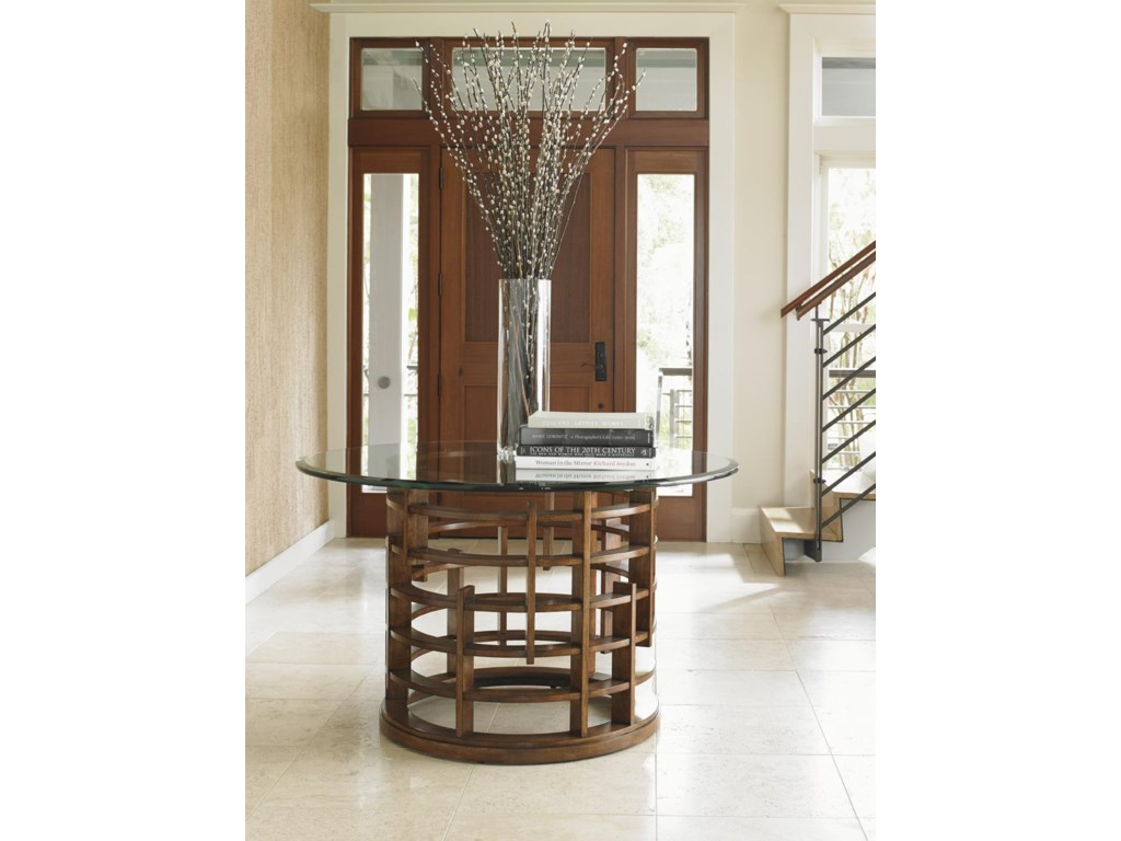 Tommy Bahama Home Island FusionMeridien Dining Table with 54