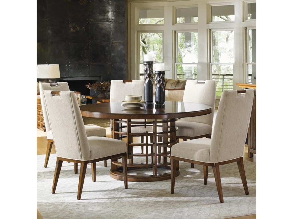 Tommy Bahama Home Island FusionMeridien Dining Table and Side Chair Set