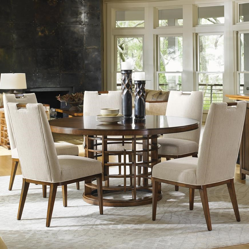Tommy Bahama Home Island FusionMeridien Dining Table And Side Chair Set ...