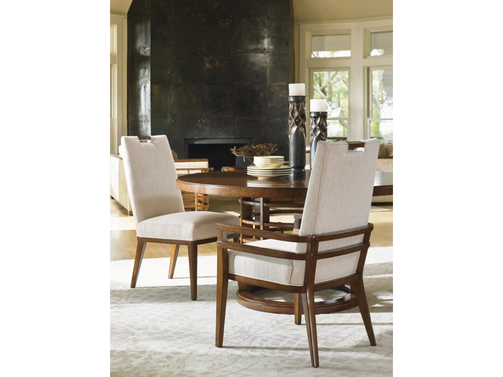 Tommy Bahama Home Island FusionMeridien Round Dining Table