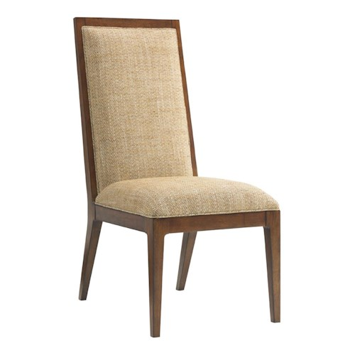 Tommy Bahama Home Island Fusion Natori Customizable Slat Back Side Chair