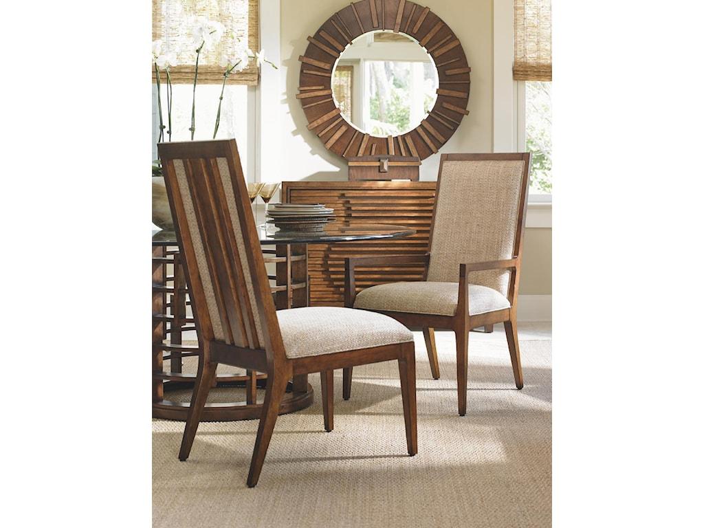 Tommy Bahama Home Island FusionNatori Customizable Slat Back Side Chair