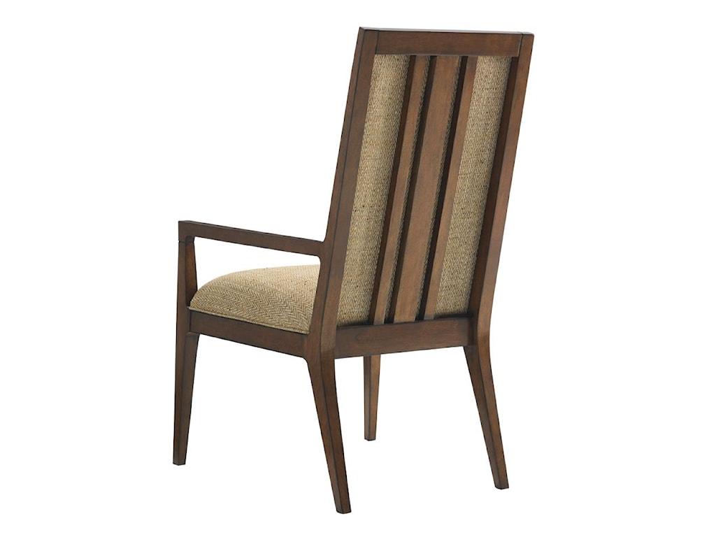 Tommy Bahama Home Island FusionNatori Customizable Slat Back Arm Chair