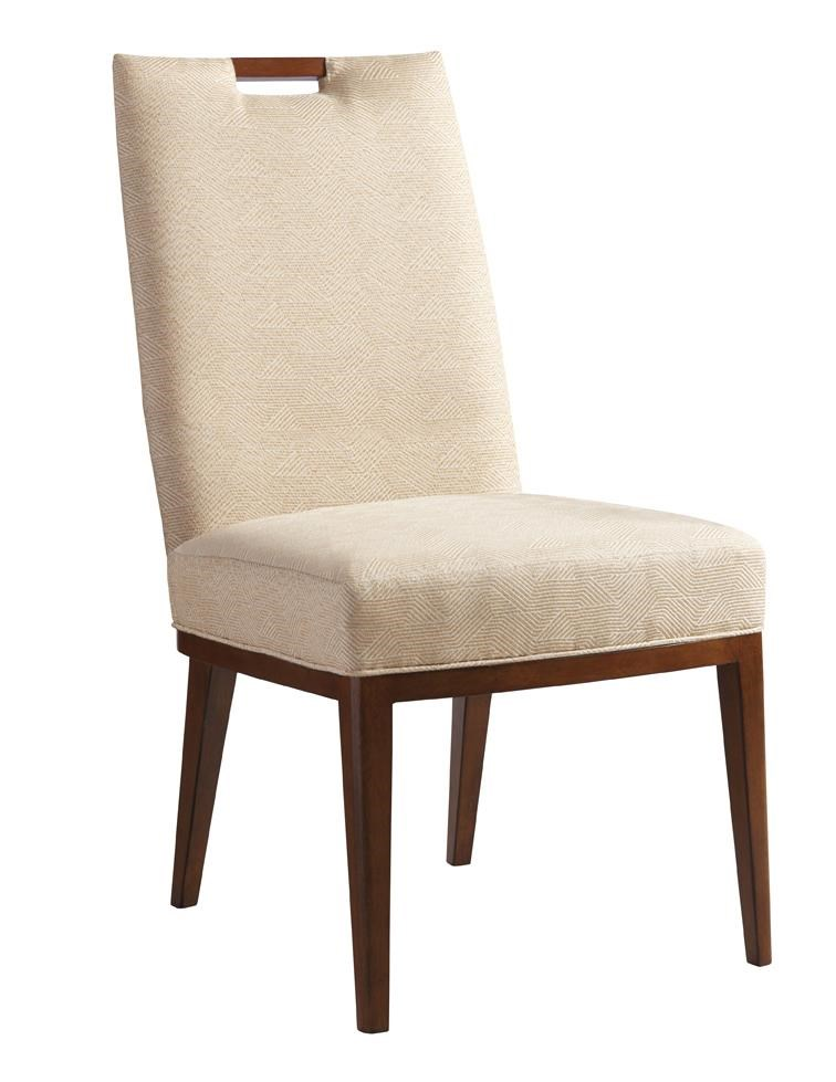 Coles Bay Side Chair in Cresting Waves Fabric