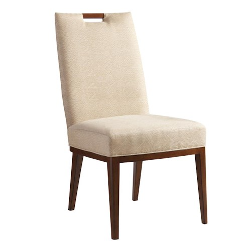 Tommy Bahama Home Island Fusion Coles Bay Side Chair in Cresting Waves Fabric