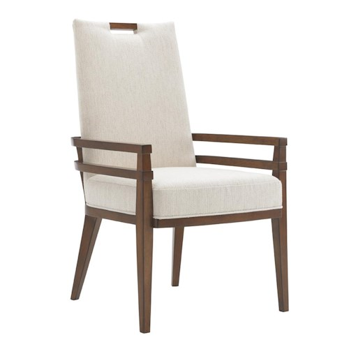 Tommy Bahama Home Island Fusion Coles Bay Arm Chair in Ivory