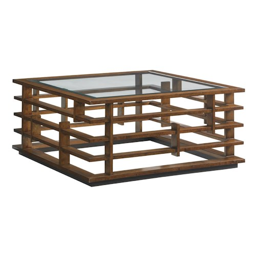 Tommy Bahama Home Island Fusion Nobu Asian-Inspired Square Cocktail Table