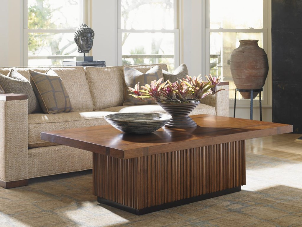Tommy Bahama Home Island FusionCastaway Rectangular Cocktail Table