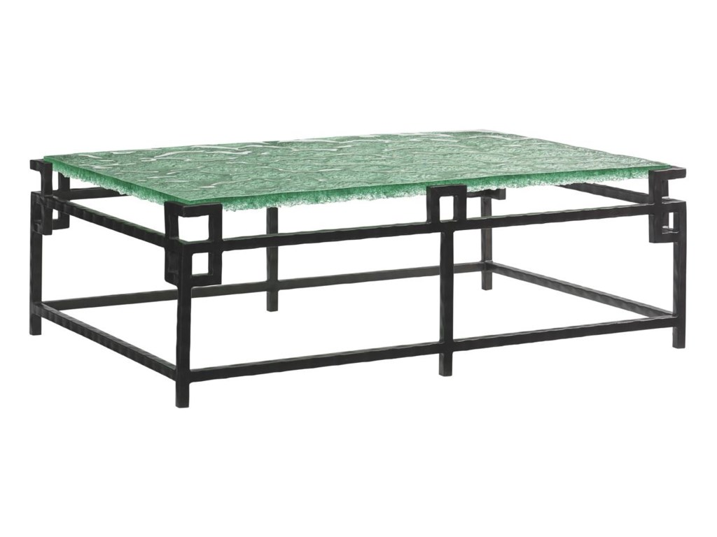 Tommy Bahama Home Island FusionHermes Reef Glass Top Cocktail Table