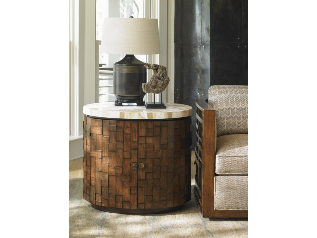 Tommy Bahama Home Island FusionBanyan Oval Accent Table